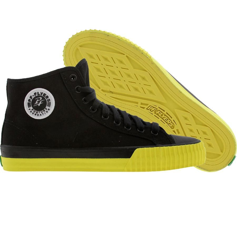 3028666dfb PF Flyers Center High in black and yellow | My Style | Pf flyers ...