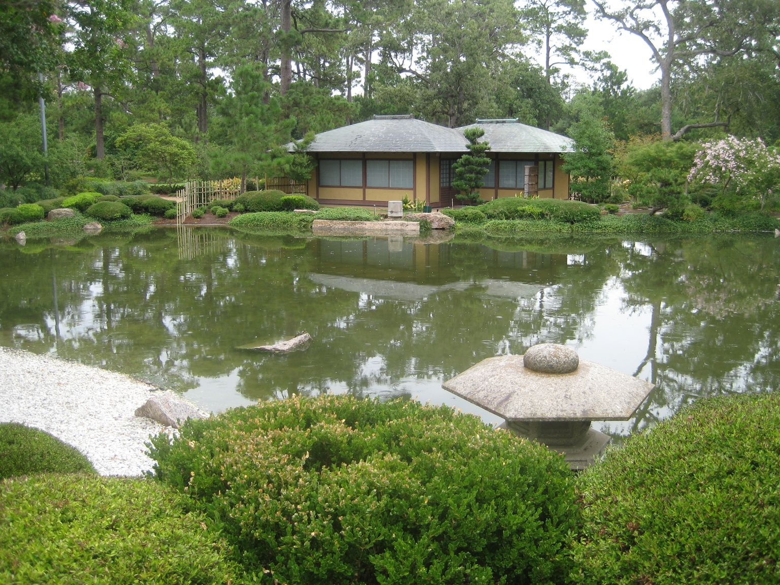 Tea Room In Japanese Garden Memorial Park Houston