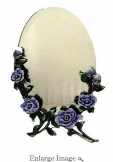 Purple Flowered Mirror