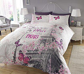 Paris Romance Juego de ropa de cama de funda de edredón y