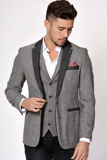 7da9f93cfd4 Grey Tweed Blazer Marc Darcy