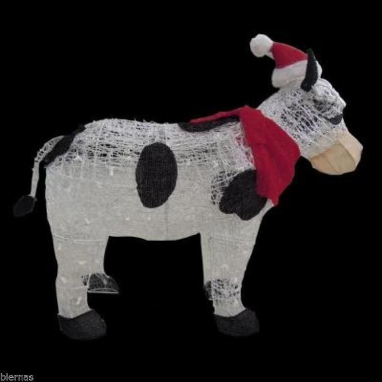 """Home Depot Christmas Decorations: 36"""" TINSEL COW LIGHTED CHRISTMAS ACRYLIC YARD DECORATION"""