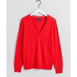 Gant Superfeiner Lambswool V-Neck Sweater (Rot) Gant – Business outfits