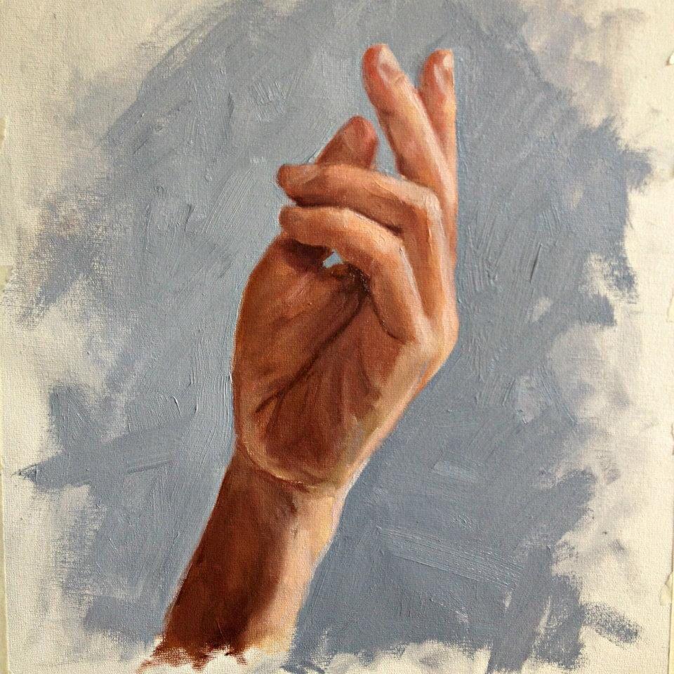 Estudio, óleo sobre lienzo. 2011
