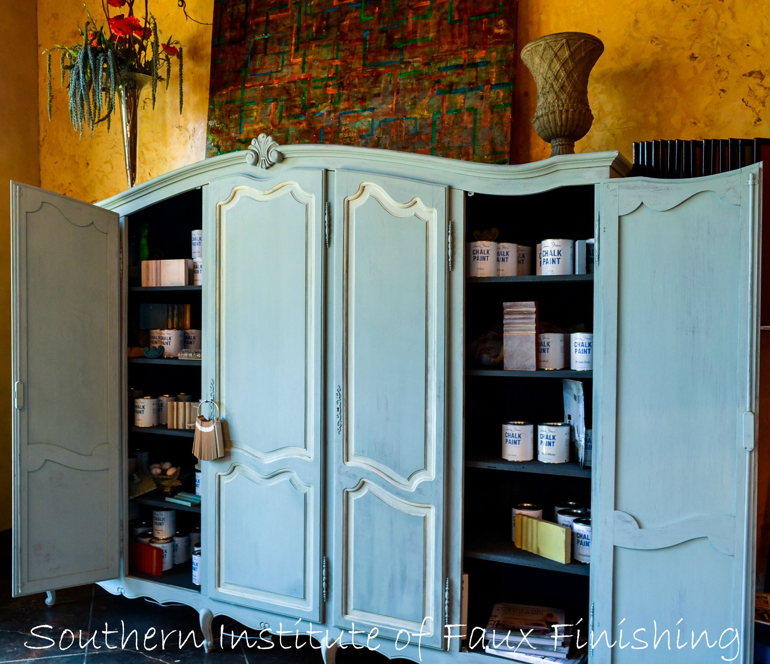 Beautifully Finished Chalk Paint® Decorative Paint By Annie Sloan Display  Cabinets At The Southern Institute
