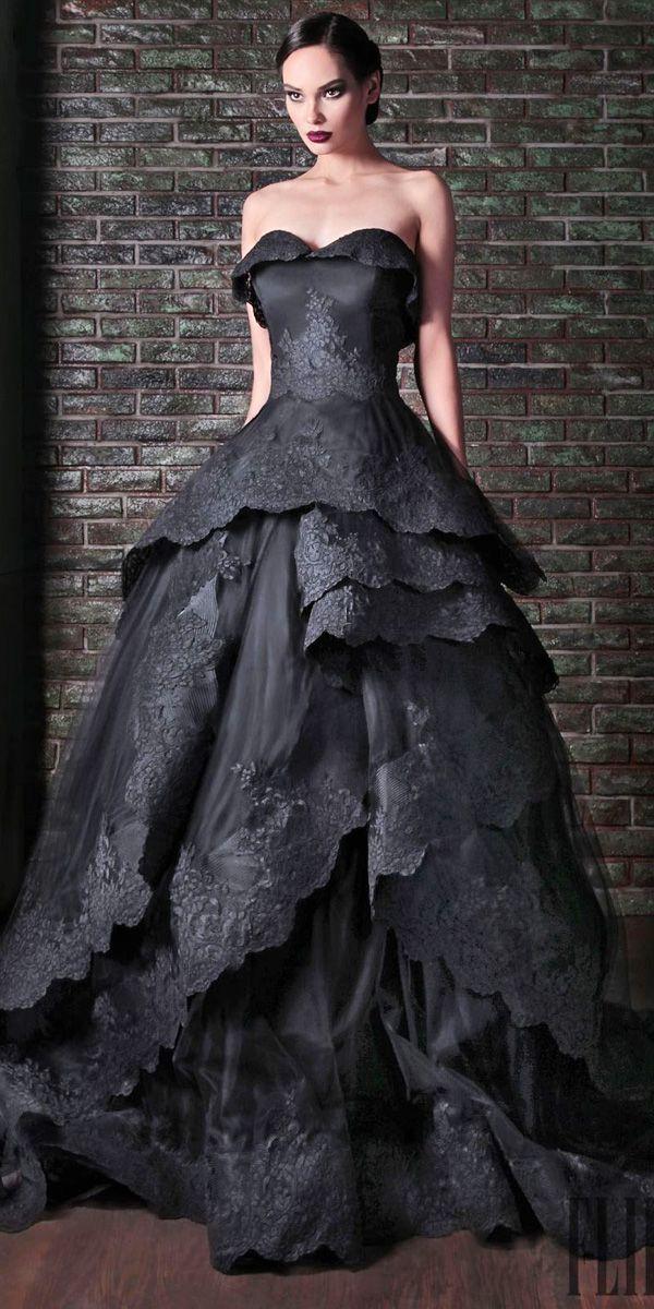 21 Black Wedding Dresses With Edgy Elegance   Braut und Kleider