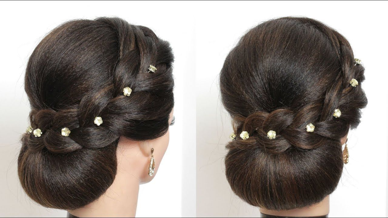 Simple Bun Updo Hairstyle For Long Hair Tutorial - YouTube   Long hair tutorial, Hair tutorial ...