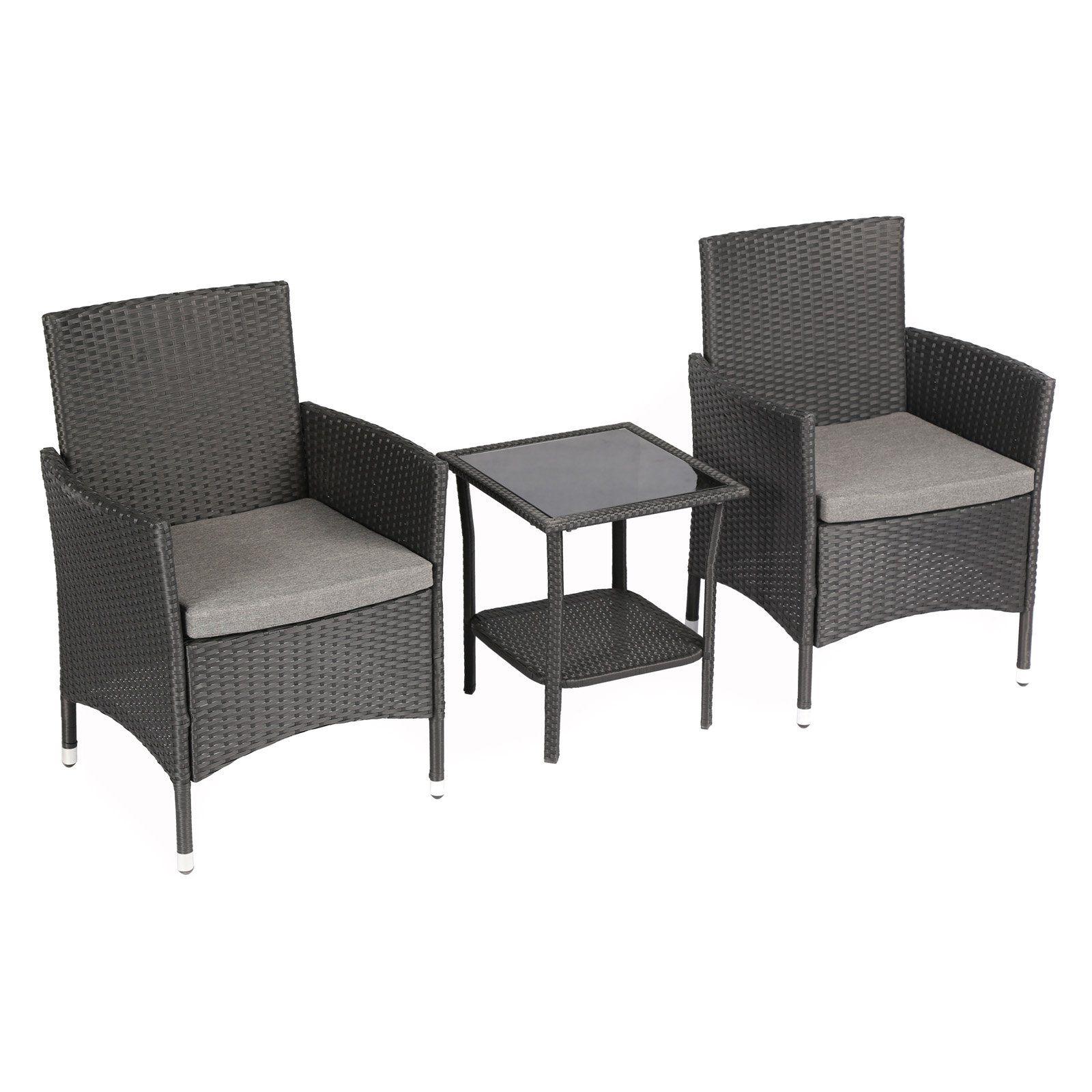 Furniture Modern Wicker 3 Piece Patio