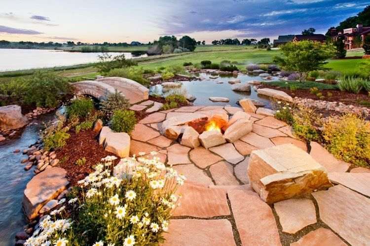 Polygonalplatten aus Sandstein Garten Pinterest Gartensteine