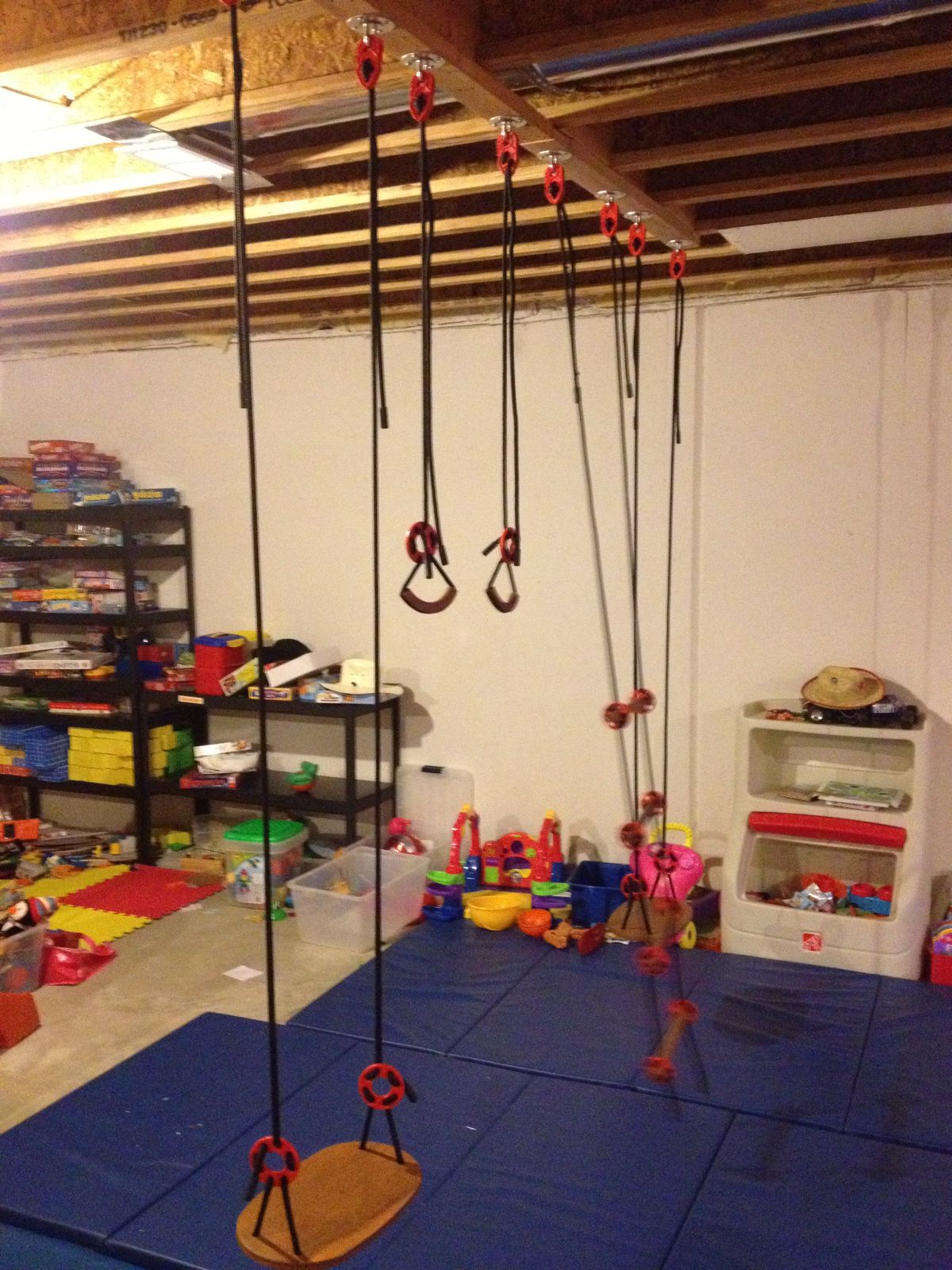 Basement playground homesteaddad basement pinterest