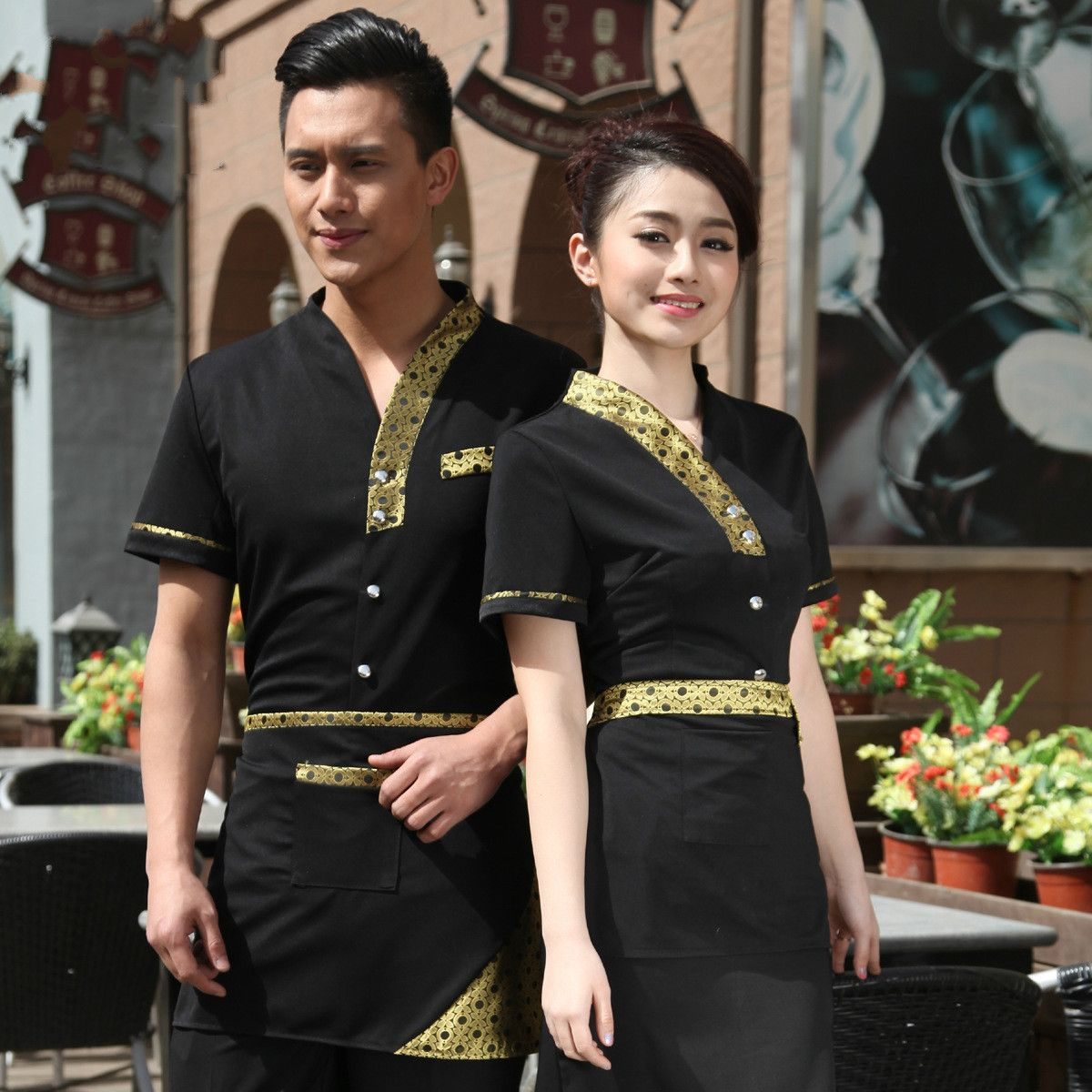 Beautiful Asian Restaurant Uniform Ideas