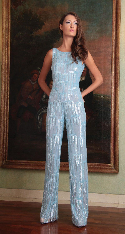 Blue Sparkly Jumpsuit