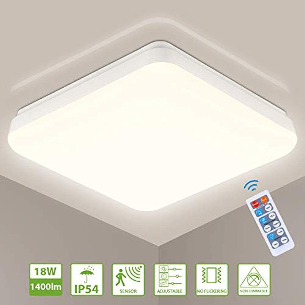 Led Deckenlampe Mit Bewegungsmelder18w Oeegoo 1400lm Led Lampe Mit Tageslichts In 2020 Deckenleuchte Mit Fernbedienung Led Deckenlampen Deckenlampe Mit Bewegungsmelder