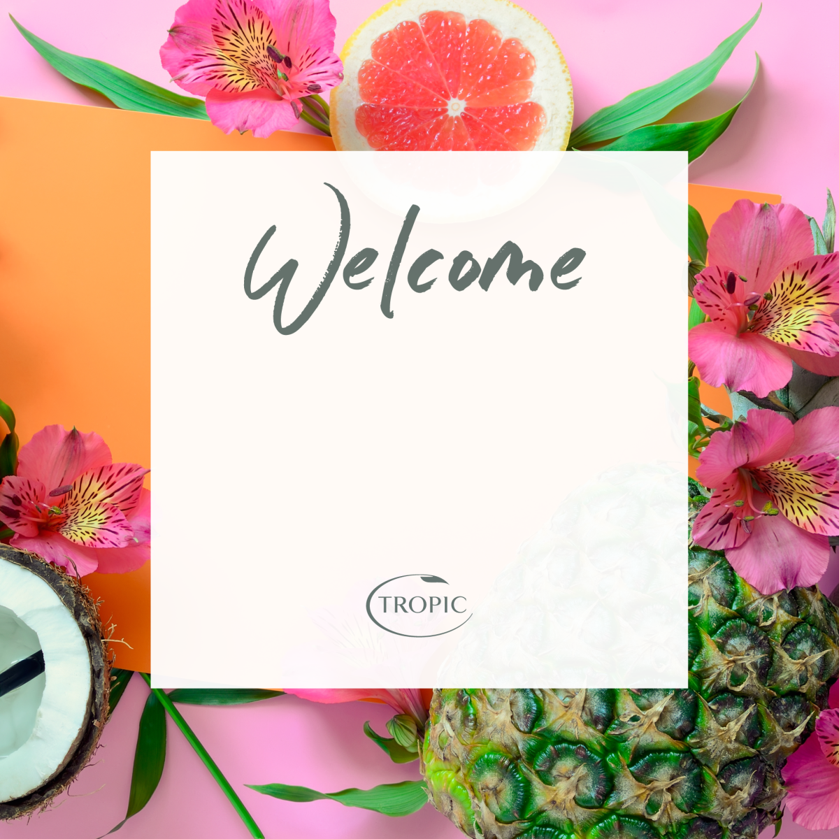 Welcome To Tropic Skincare Tropic Skincare Body Shop At Home Thank You Flowers