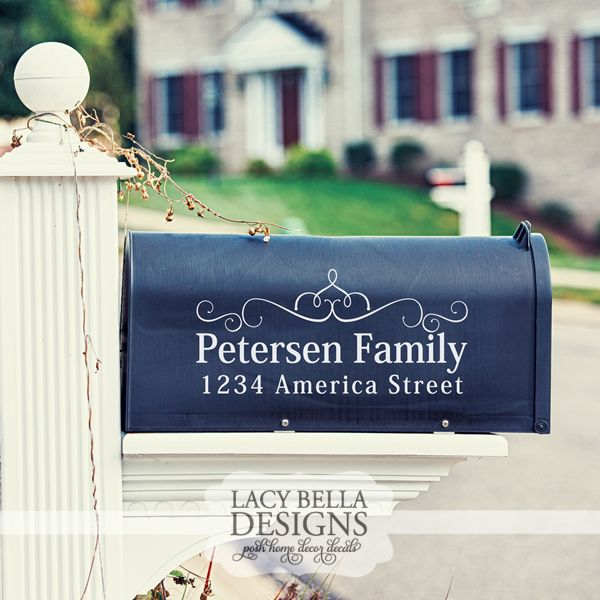 Wwwlacybellacom Custom Mailbox Sign Decal Family Name And - Custom vinyl decals for mailbox