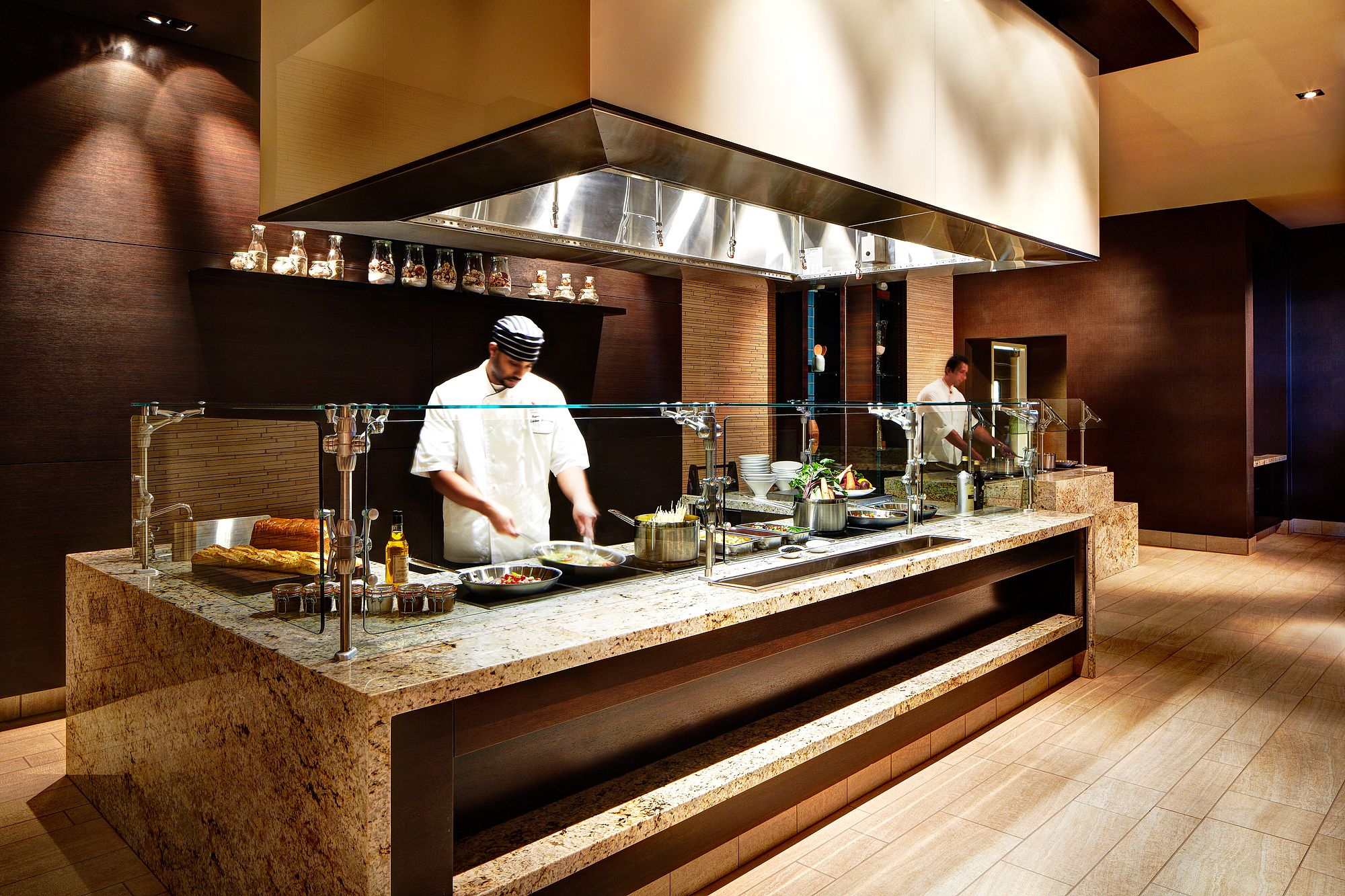 hotel with kitchen in room long light fixtures our buffet station sandiego dining restaurant