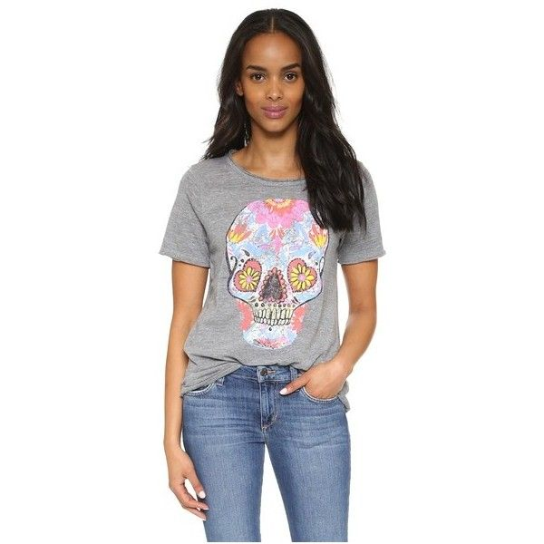 b40ec8ec1d1fe Chaser Sugar Skull Tee ( 63) ❤ liked on Polyvore featuring tops