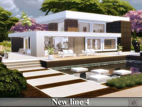 Luxury villa. Found in TSR Category 'Sims 4 Residential