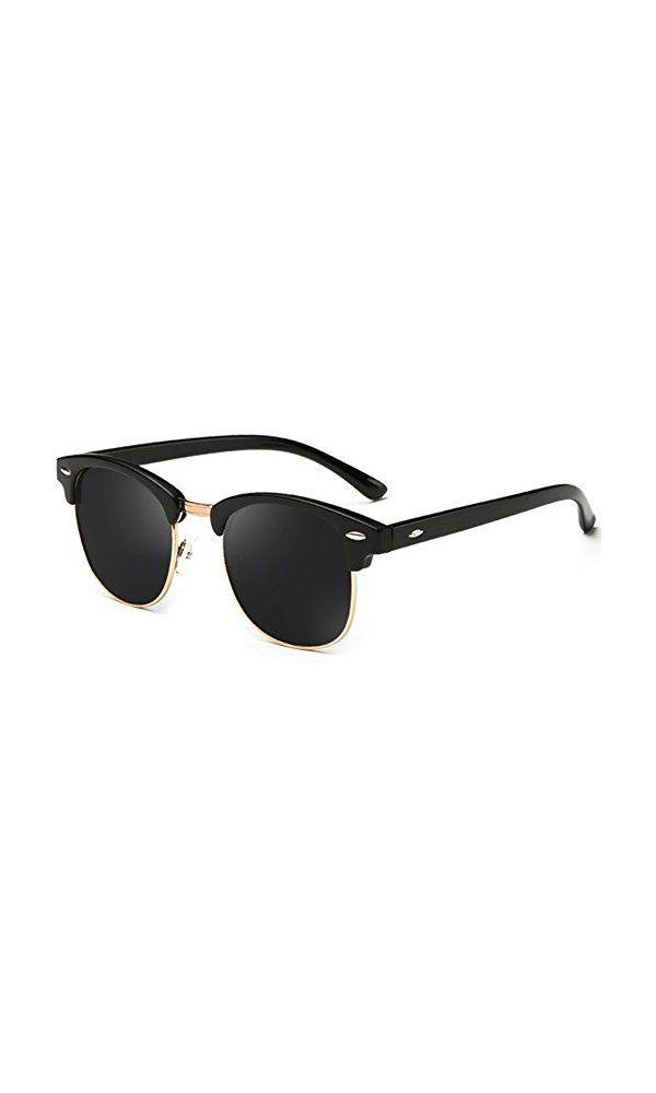 7d5d9d3282 9.99  - Joopin Semi Rimless Polarized Sunglasses Women Men Retro Brand Sun  Glasses (Brilliat