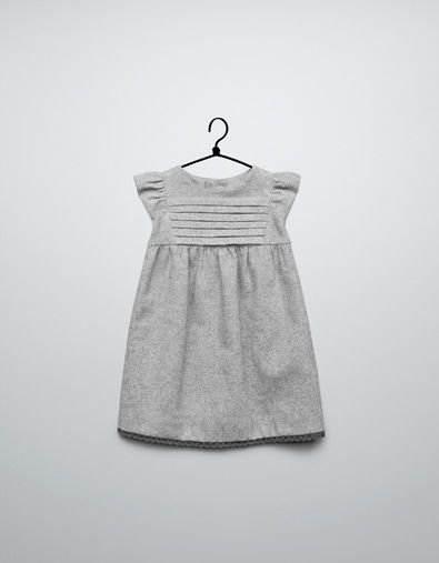9e2e4c034c77 dress with lace trim on hem - Dresses - Baby girl (3-36 months) - Kids -  ZARA United States