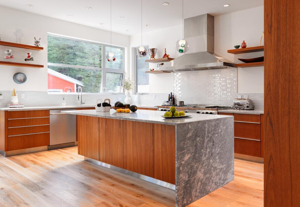 custom-modern-teak-kitchen-cabinets-199-2 - South Shore ...