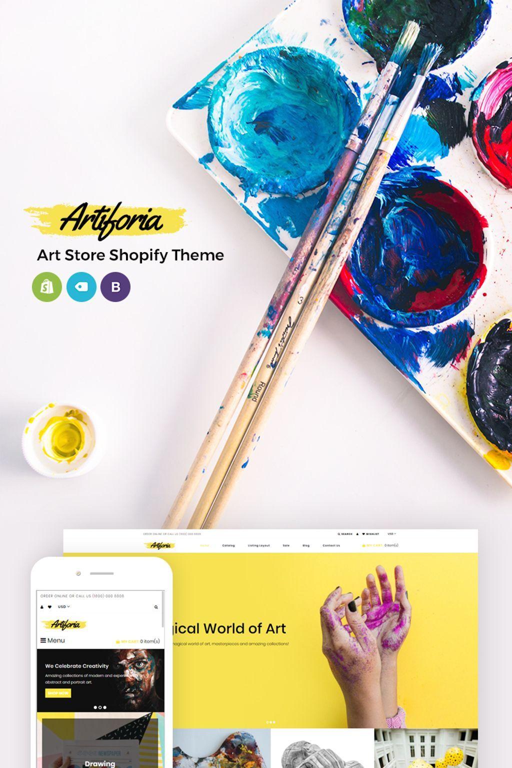 Artiforia art store shopify theme