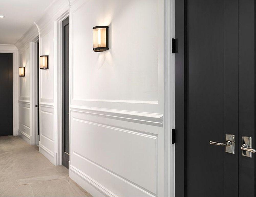 Dark Painted Doors In Hallway Hotel Concept Condo Design Corridor Design