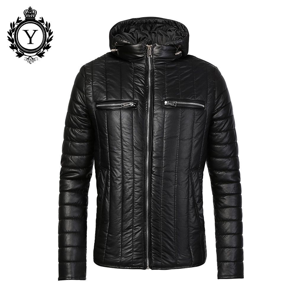Warm Winter Coat Men Black Quality Down Jackets and Coats Cotton ...