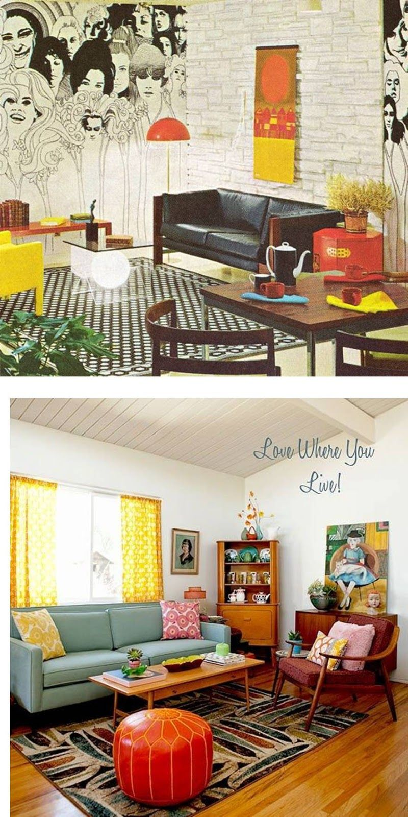 Casinha colorida decora o as tend ncias por d cadas os for Mobilia anos 70