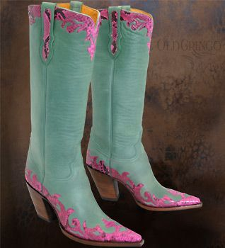 Another Pair Old Gringo Boots Aqua Amp Pink Boots Old