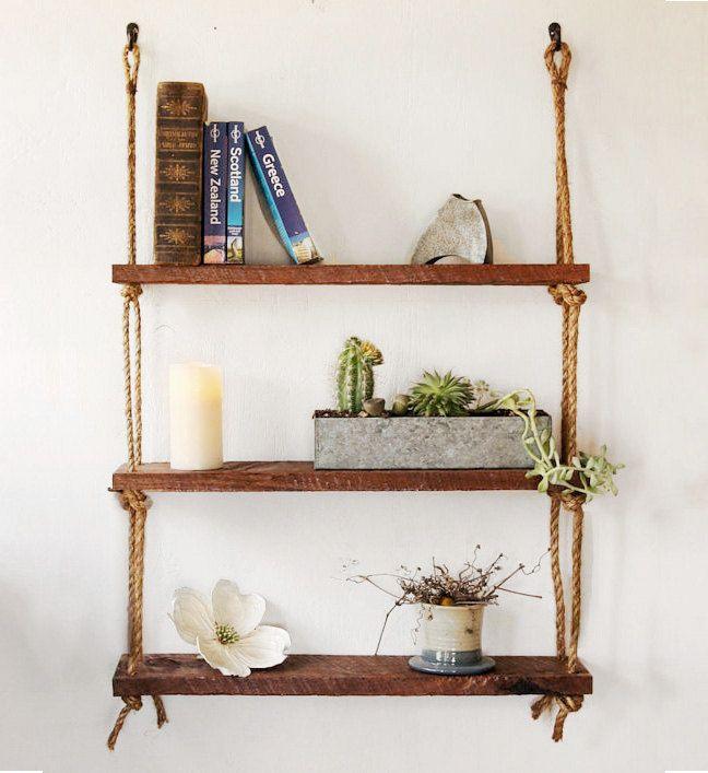 Hanging Shelf Reclaimed Wood Shelves
