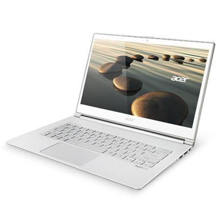 "Acer Aspire S7-392-5401 13.3"" Touchscreen Ultrabook Computer, Intel Core i5-4200U 1.6GHz, 8GB RAM, 256GB SSD, Windows 8.1, Crystal White"