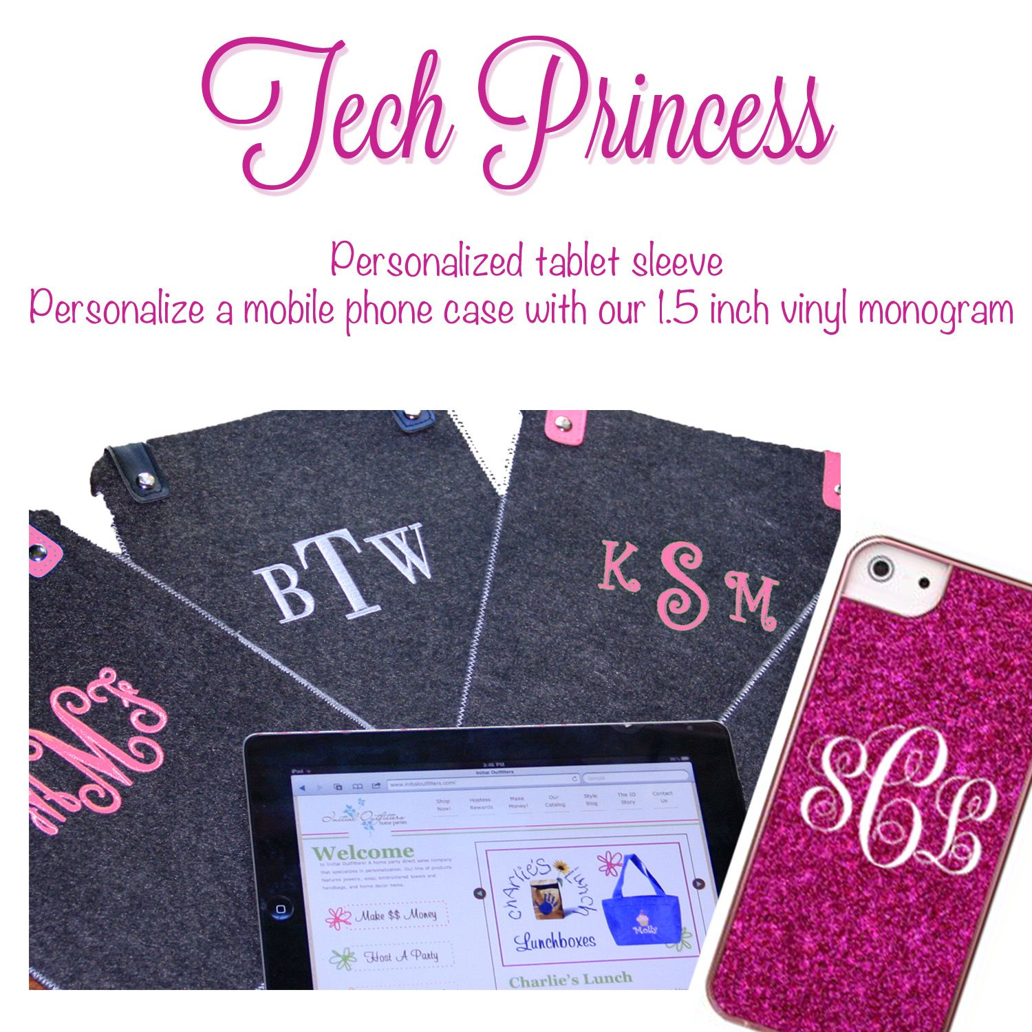 Monogrammed Tablet Sleeve And Personalize Cell Phone With Vinyl Monogram Vinyl Monogram Tablet Sleeve Personalised