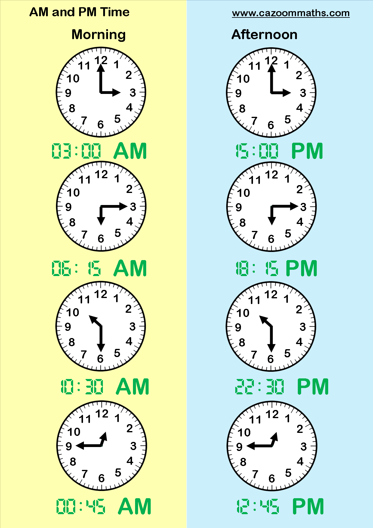 am and pm times teaching time pinterest math worksheets multiplication grid and math. Black Bedroom Furniture Sets. Home Design Ideas