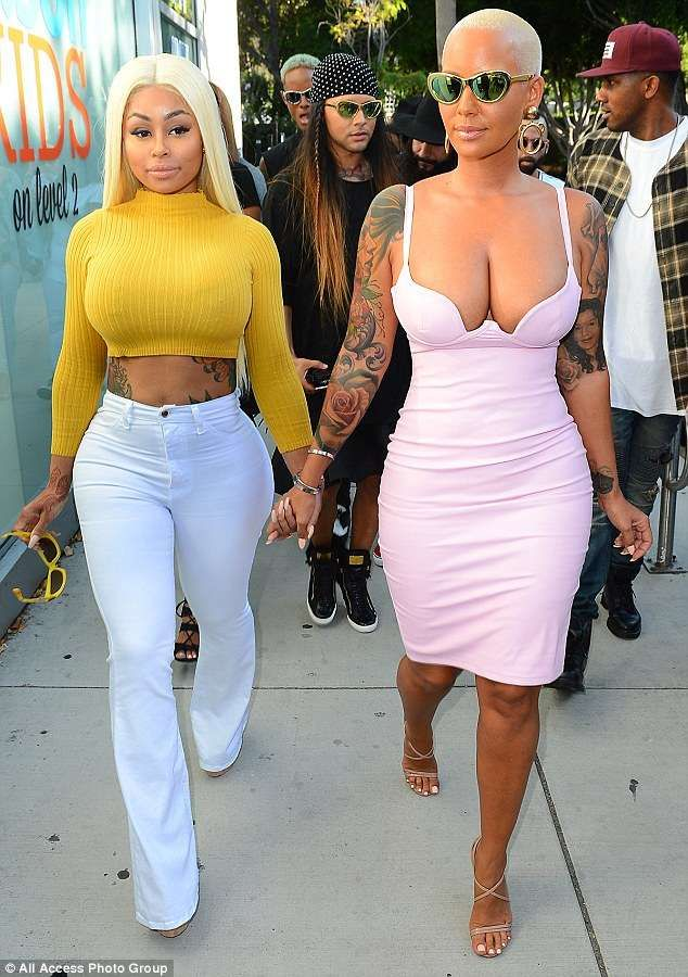 Information blac chyna and amber rose All above