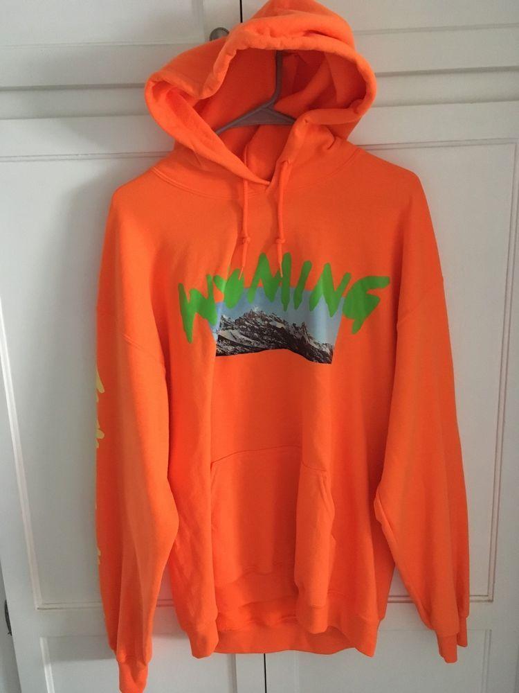 Kanye West Ye Wyoming Listening Party Orange Hoody Sweatshirt L Large Hoodie Sweatshirts Hoodie Sweatshirts Hoodies