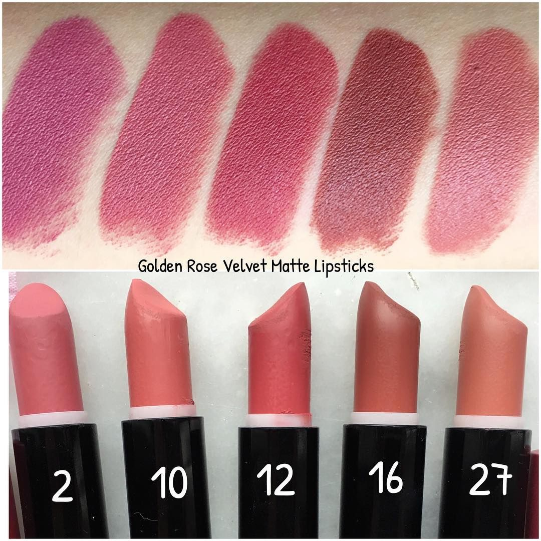 Swatches Of My Golden Rose Lipsticks Bir Onceki Fotoda Olan Golden