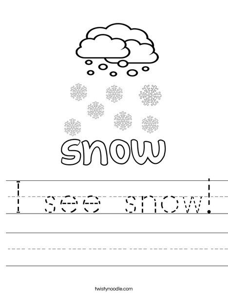 I see snow Worksheet - Twisty Noodle | 2015-2016 Classroom ...