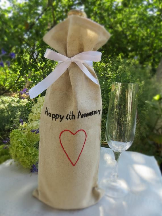 4th 12th wedding anniversary gift for men wife Linen ...