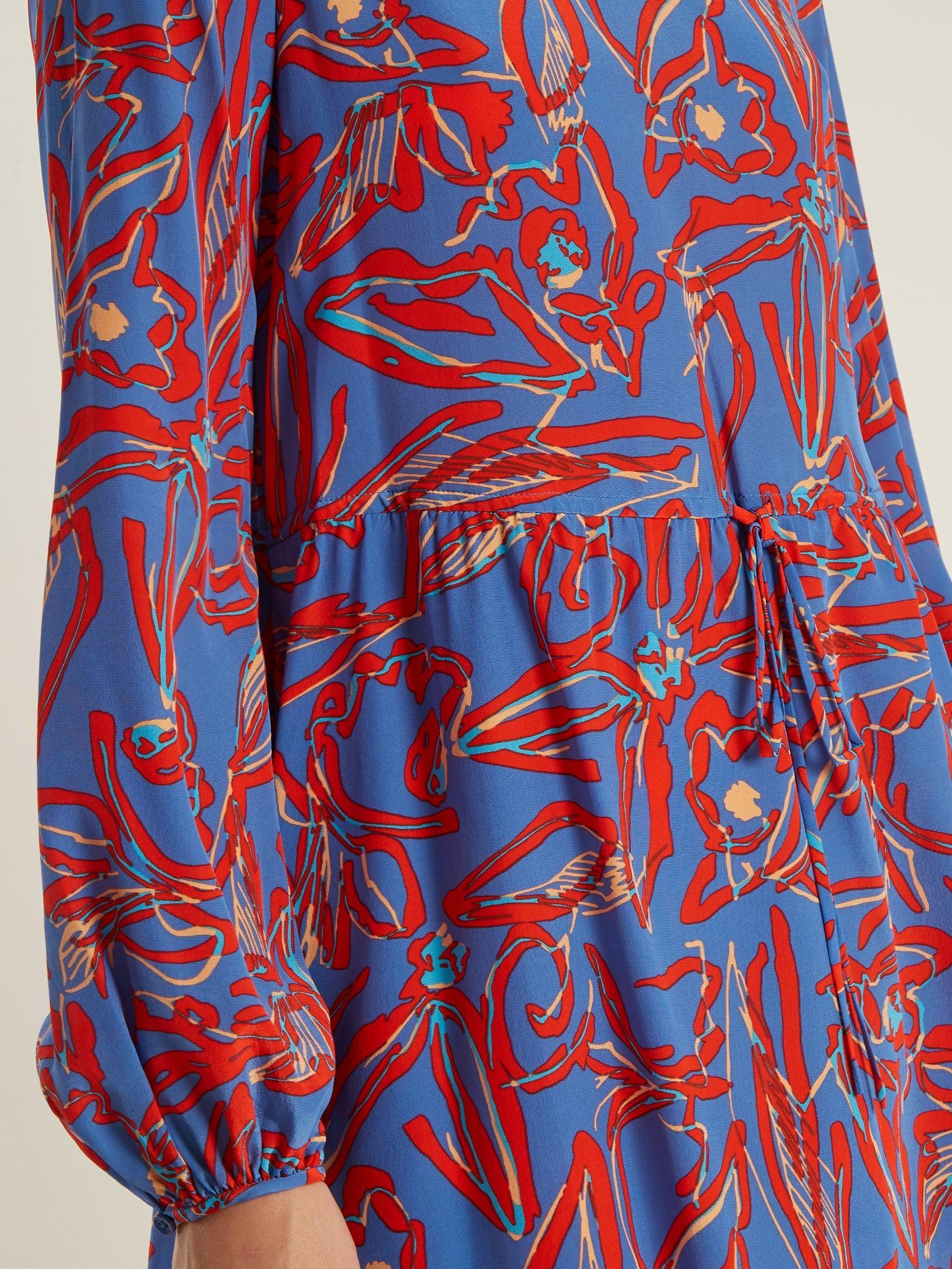 Drawstring-waist silk crepe de Chine dress Diane Von F Buy Cheap Nicekicks Cheap Store Buy Cheap Fake Offer Clearance New Styles C3YBy