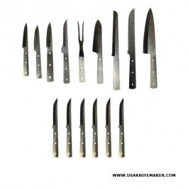 Kitchen Chef Maker Tm Knife 15 Blade Set 15 Knife Blade Blanks
