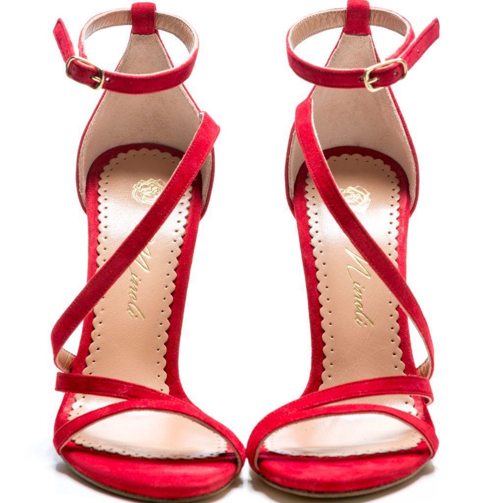 – Alena BoutiqueShoes Sandale De Damă Mineli Red JcuKTF1l35