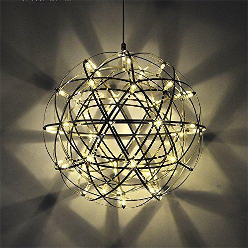 Vulcanus Dia 40cm 20W LED Warmes Licht Edelstahl Moderne ... https ...