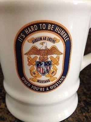 USS Princeton CG-59 Cup Mug Mustang LDO CWO Navy | Ceremony