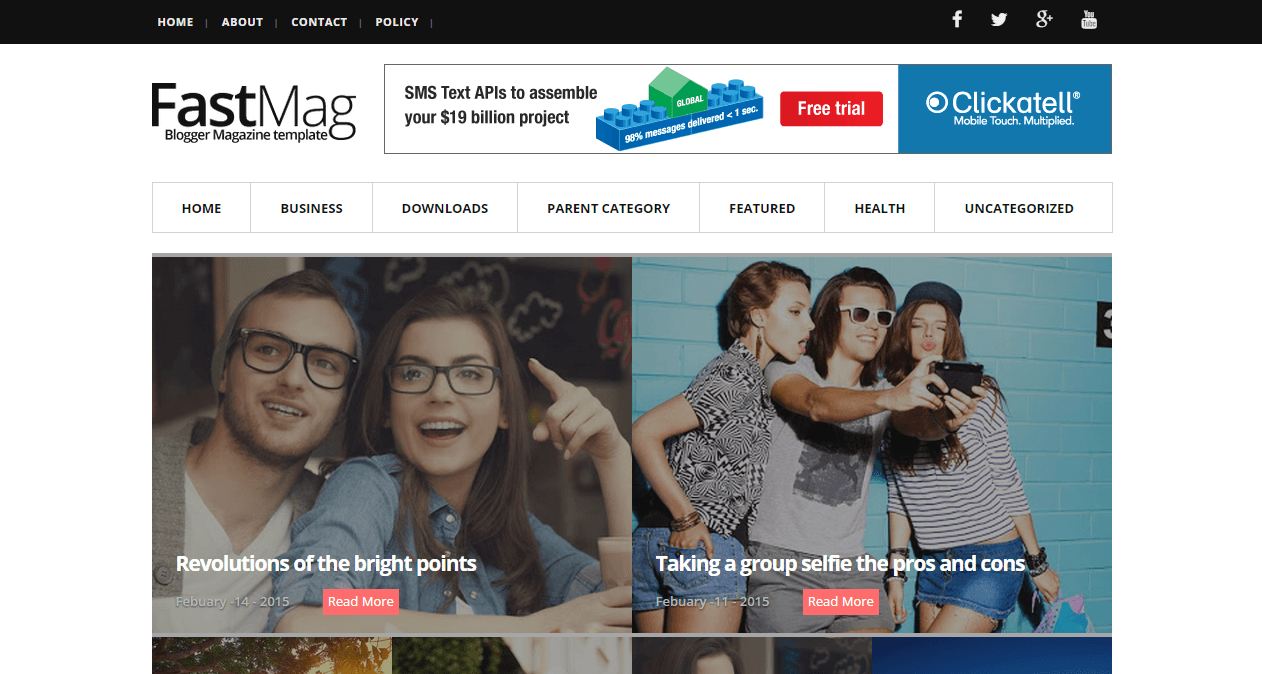 free download fast mag blogger template | mobile tips and trick ...