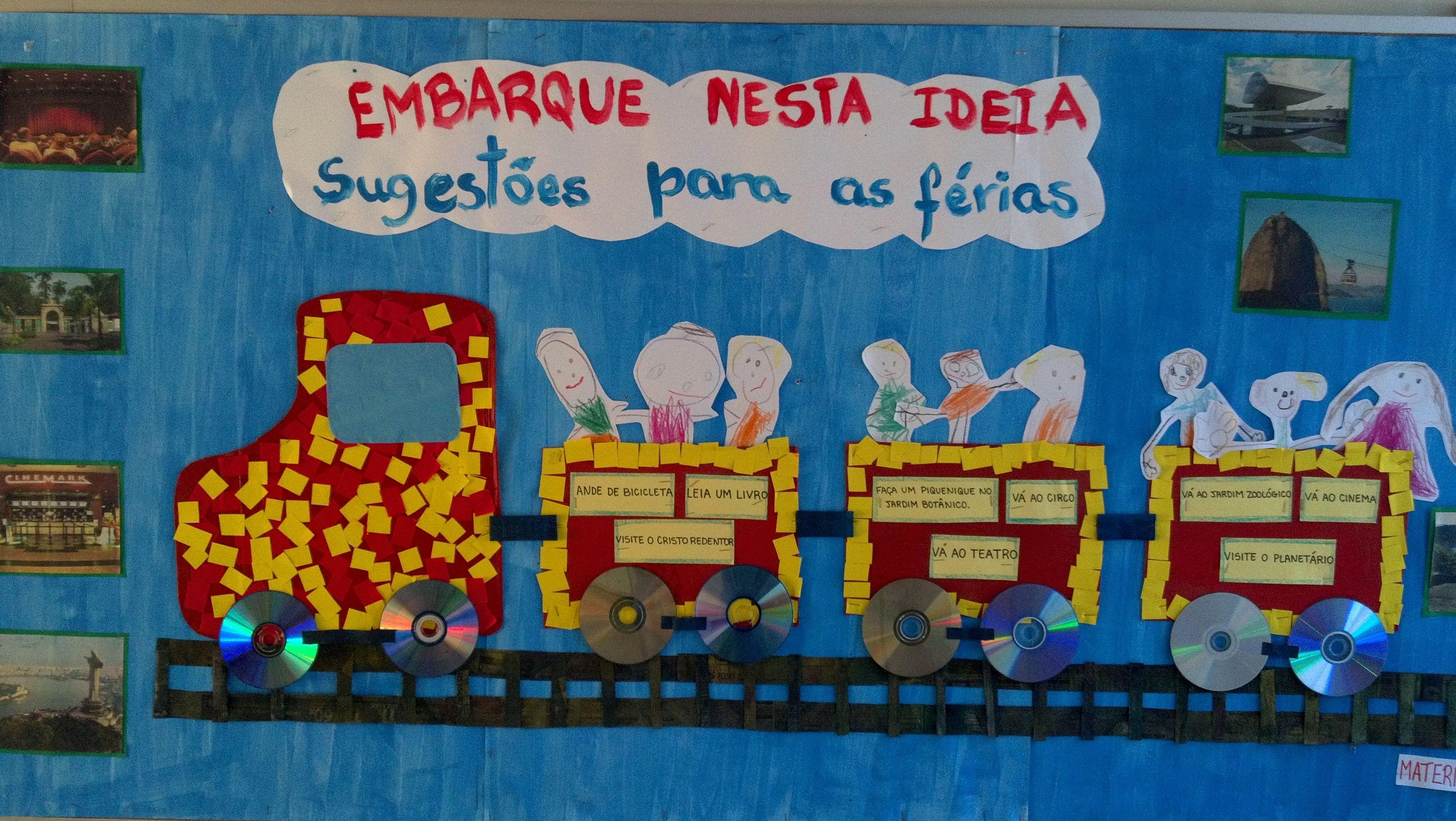 Mural Sugestoes Para As Ferias Unidade Laranjeiras Com Imagens