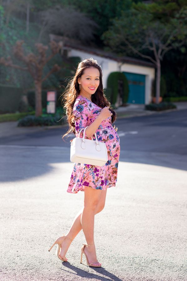db183ee5360c petite maternity, floral dress, skater dress, floral maternity dress, fashion  blog, cute maternity clothes