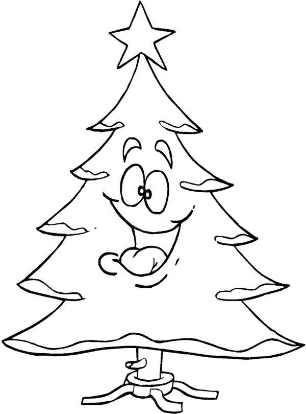 Smile Christmas Tree Coloring Page Arbol De Navidad Para Colorear Dibujo De Arbol Hojas De Navidad Para Colorear