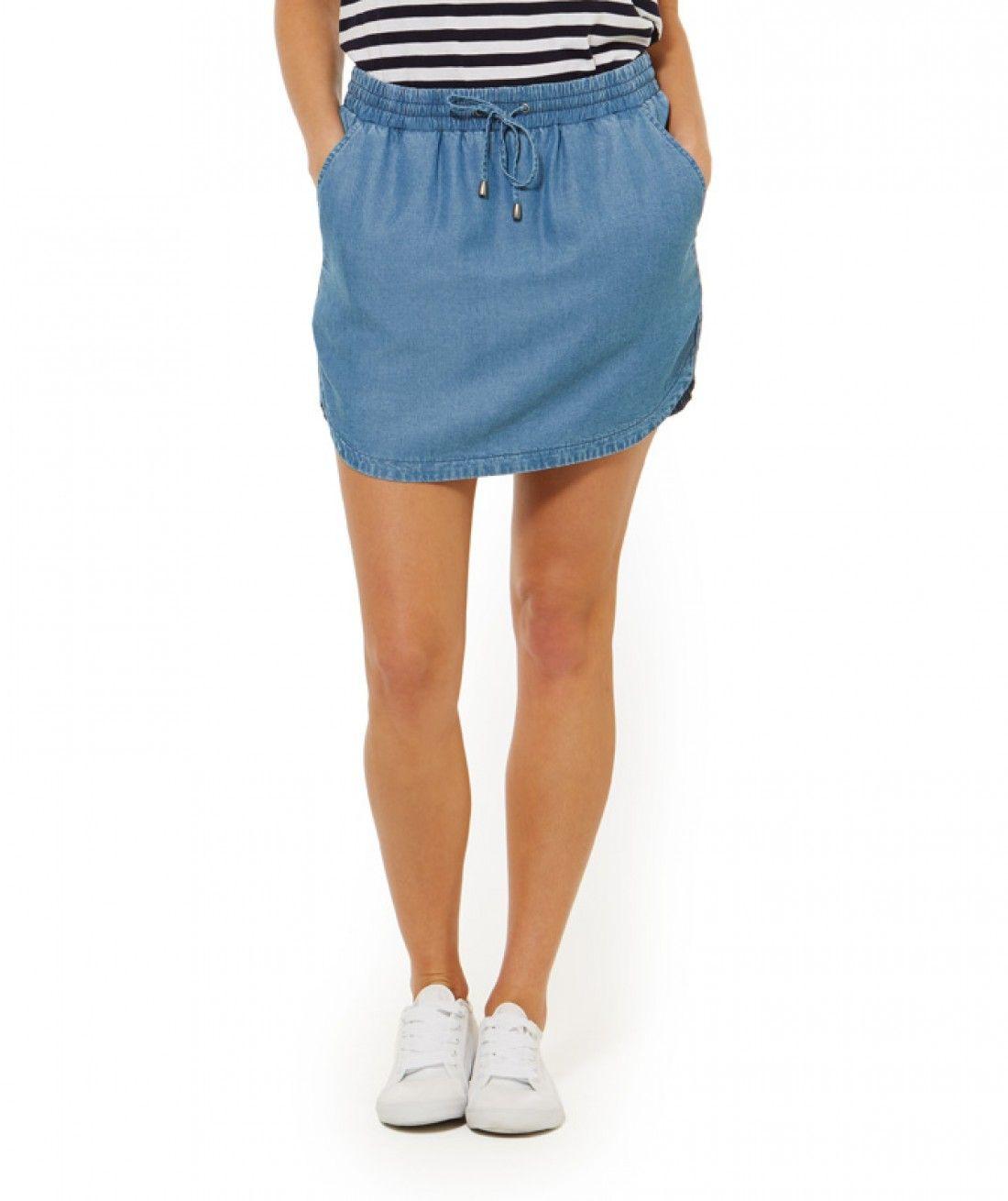 fa0e7716ef Blue Jean Baby - Lyocell Jogger Skirt - Clothing - Sportsgirl   What ...