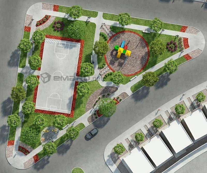 Plano 3d de parque planos 3d planos de arquitectura for Programas de diseno de espacios